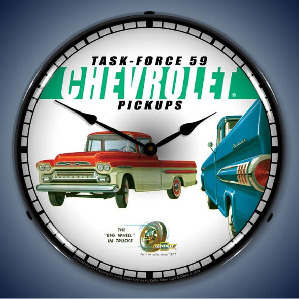 1959 Chevrolet Pickup Lighted Clock