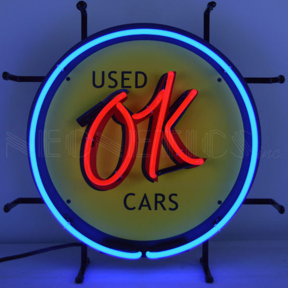 Chevy Vintage OK Used Cars Junior Neon Sign
