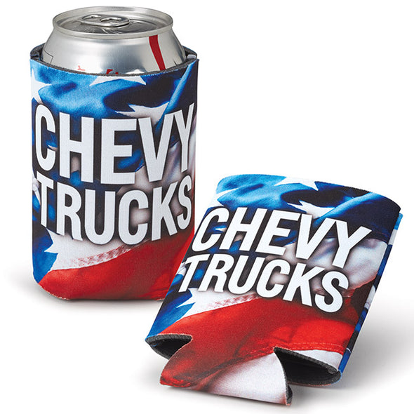 United States Flag Chevy Trucks Coolie