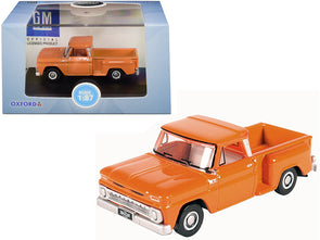 1965 Chevrolet C10 Stepside Pickup Truck Orange 1/87 (HO) Diecast