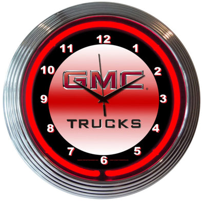 GMC Trucks Neon Wall Clock