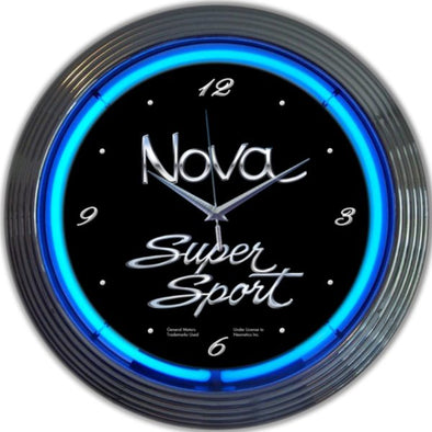 Nova Super Sport Neon Wall Clock