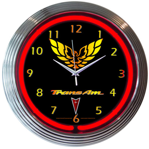 Trans Am Neon Wall Clock