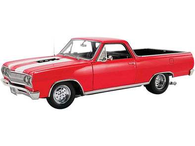 1965 Chevrolet El Camino Drag Outlaws Red with White Stripes 1/18 Diecast