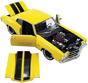 1970 Chevrolet Chevelle Street Fighter Daytona Yellow w/ Black Stripes 1/18 Diecast