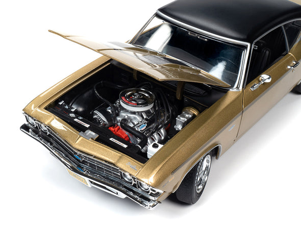 1969 Chevelle Yenko Hardtop Olympic Gold Metallic with Black Top 1/18 Diecast