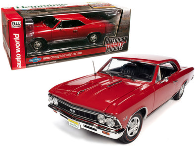 1966 Chevrolet Chevelle SS 396 Hardtop Regal Red 1/18 Diecast