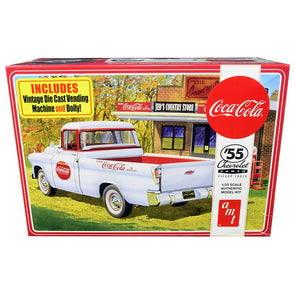 Skill 3 Model Kit 1955 Chevrolet Cameo Pickup Truck Coca-Cola 1/25 Diecast