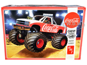 "Skill 2 Model Kit Chevrolet Silverado Monster Truck ""Coca-Cola"" 1/25 Diecast"