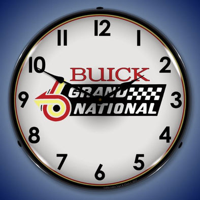 Buick Grand National Logo Lighted Clock