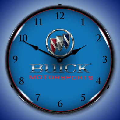 Buick Motorsports Lighted Clock