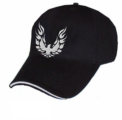 Pontiac Firebird Liquid Metal Logo Black Cap
