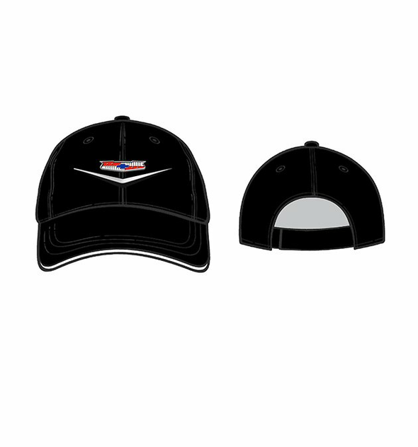 55-57 Tri 5 Bel Air Liquid Metal Logo Black Cap