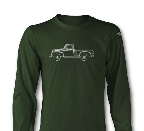 1951 - 1954 Chevrolet Pickup 3100 Long Sleeve T-Shirt