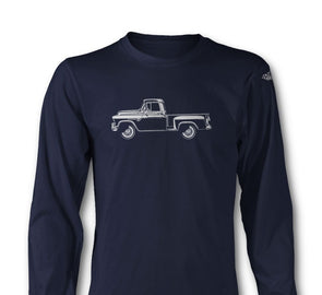 1955 Chevrolet Pickup 3100 Task Force  Long Sleeve T-Shirt