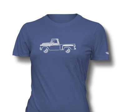 1955 Chevrolet Pickup 3100 Task Force Ladies T-Shirt