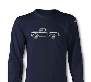 1956 Chevrolet Pickup 3100 Task Force Long Sleeve T-Shirt