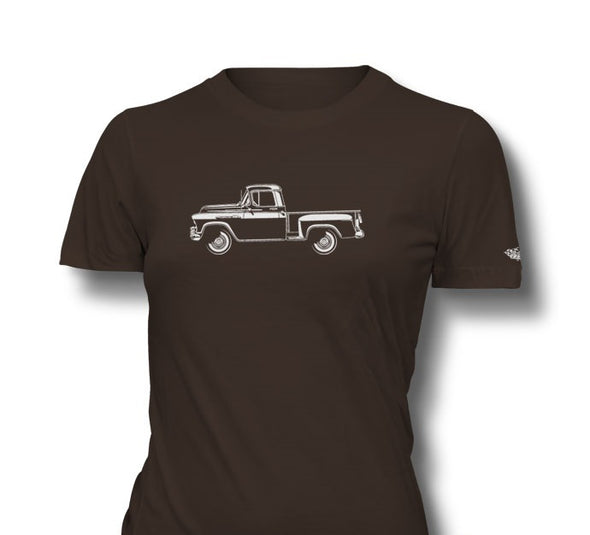1956 Chevrolet Pickup 3100 Task Force  Ladies T-Shirt