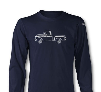 1957 Chevrolet Pickup 3100 Task Force Long Sleeve T-Shirt