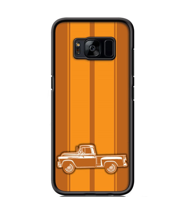 1955 Chevrolet Pickup 3100  Task Force Series Smartphone Case - Racing Stripes