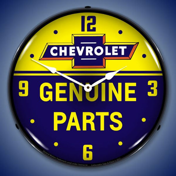 Chevrolet Bowtie Genuine Parts Clock