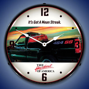 Chevrolet 454 SS Truck Lighted Clock