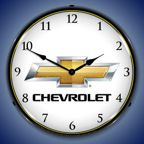 Chevrolet Bowtie Lighted Clock