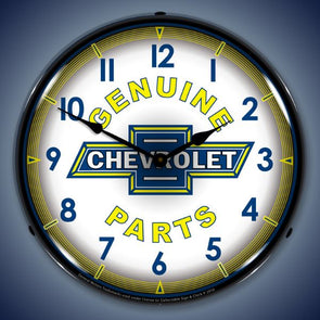 Chevy Parts Vintage Lighted Clock