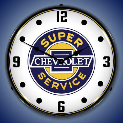 Chevrolet Super Service Lighted Clock