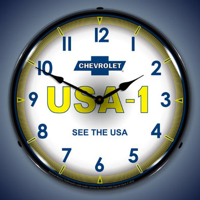 Chevrolet USA -1 Lighted Clock