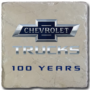 Chevrolet Trucks 100 Years Bowtie Stone Coaster