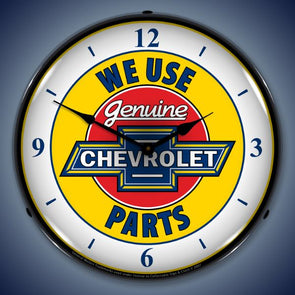 Chevy Parts W/Numbers Lighting Clock