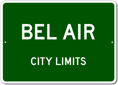 Chevy Bel Air - City Limit Aluminum Sign