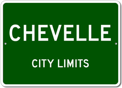Chevy Chevelle- City Limit Aluminum Sign
