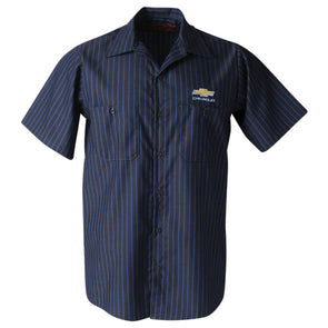 Chevrolet Bowtie Red Kap Industrial Short Sleeve Work Shirt