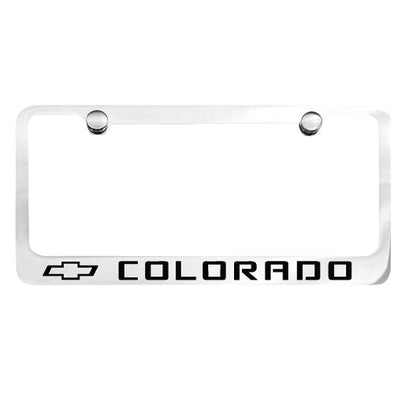 Colorado Chrome License Plate Frame