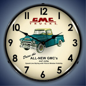 GMC Trucks 1956 Lighted Clock