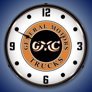 GMC Trucks Vintage Lighted Clock