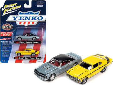 1967 Camaro Yenko Blue Metallic and 1970 Chevrolet Nova Yenko Deuce Yellow 1/64 Diecast