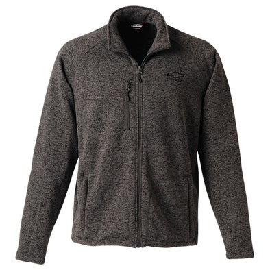 Chevrolet Men's Bowtie Sweater Knitted Fleece Jacket