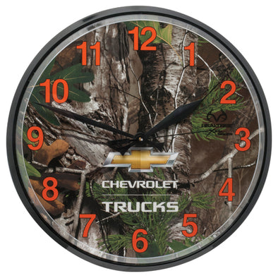 Camo Chevy Trucks Wall Clock