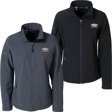 Chevrolet Gold Bowtie Ladies Soft Shell Jacket
