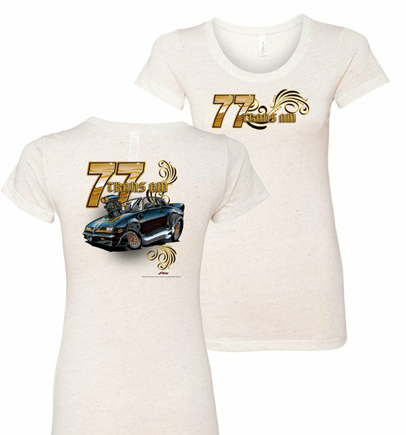 Ladies 77 Trans Am Tooned Up T-Shirt