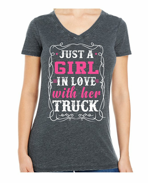 Chevy Girl in Love with her Truck Tee
