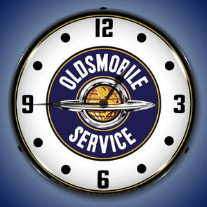 Oldsmobile Service Lighted Clock
