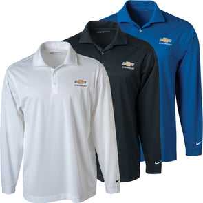 Chevrolet Gold Bowtie Nike Golf L/S Tech Polo