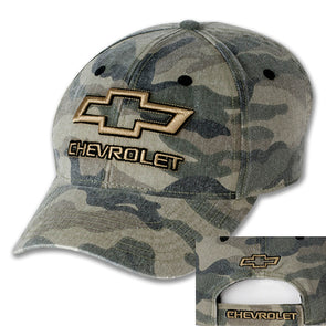 Chevrolet Bowtie Camo Washed Cap