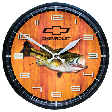 Chevrolet Bowtie Bass Clock