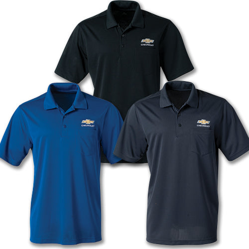 Chevrolet Gold Bowtie Dri Zone UV Micro Mesh Pocket Polo