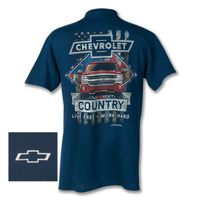 Chevy Silverado Work Hard Country Tee